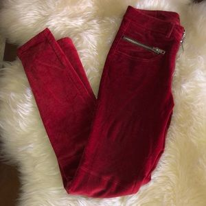 UNIF GORGEOUS RED VELVET PANTS